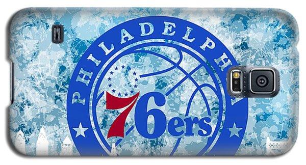 bluish backgroud for Philadelphia basket Galaxy S5 Case