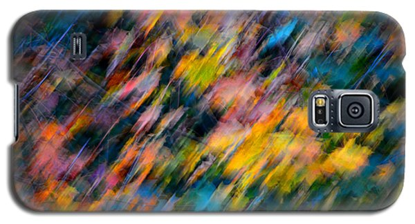 Blurred Leaf Abstract 4 Galaxy S5 Case