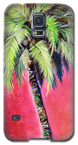Blushing Pink Palm Galaxy S5 Case