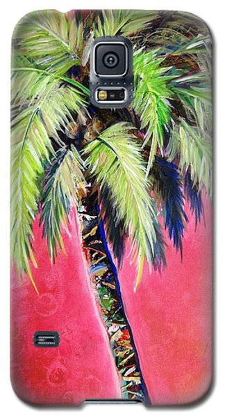 Blushing Pink Palm Galaxy S5 Case