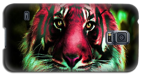 Galaxy S5 Case featuring the photograph Blushing Tiger by George Pedro
