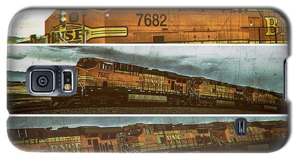 Galaxy S5 Case featuring the digital art Bnsf 7682 Triptych  by Bartz Johnson