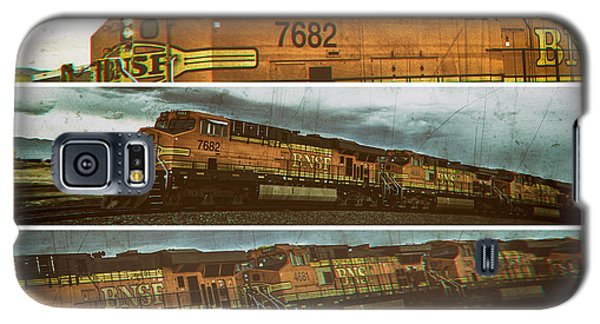 Bnsf 7682 Triptych  Galaxy S5 Case by Bartz Johnson
