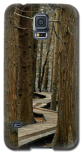 Galaxy S5 Case featuring the photograph Boardwalk Among Trees by Scott Holmes