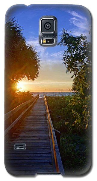 Sunset At The End Of The Boardwalk Galaxy S5 Case