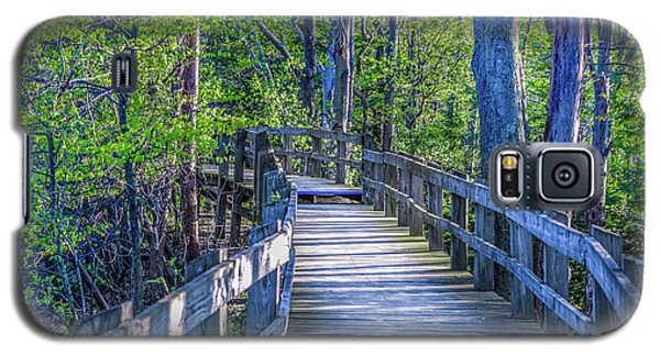 Boardwalk Going Into The Woods Galaxy S5 Case
