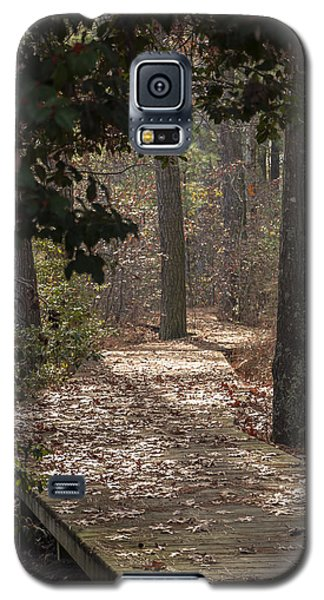 Boardwalk Through The Woods Galaxy S5 Case