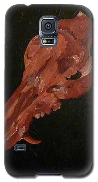 Galaxy S5 Case featuring the painting Boar's Skull No. 1 by Joshua Redman