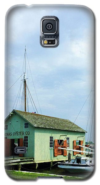Galaxy S5 Case featuring the photograph Boat By Oyster Shack by Susan Savad