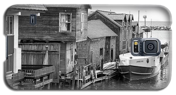 Galaxy S5 Case featuring the photograph Boat Dock In Leland Michigan  by John McGraw