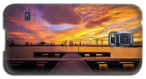 Boat Dock Sunset Galaxy S5 Case
