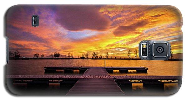 Boat Dock Sunset Galaxy S5 Case