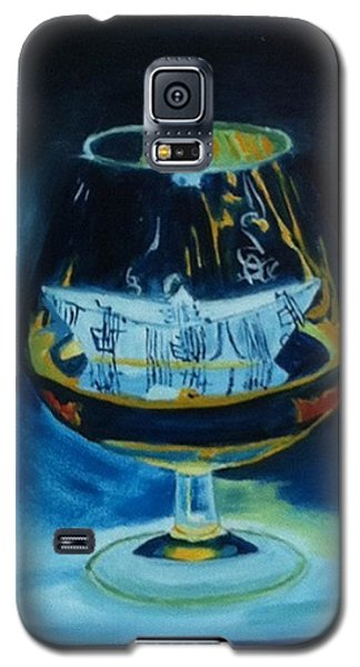 Galaxy S5 Case featuring the painting Boat In A Glass by Rod Jellison