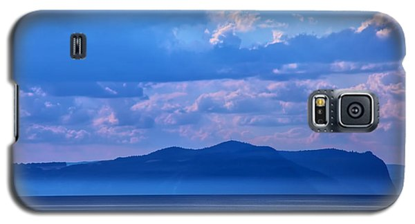 Galaxy S5 Case featuring the photograph Boat In Lake by Rick Bragan