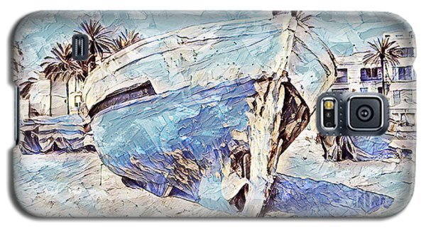 Boat On Sand Of A Beach Shore Galaxy S5 Case
