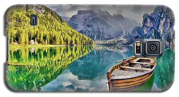 Boat On The Lake Galaxy S5 Case by Maciek Froncisz