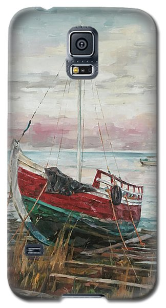Boat On The Shore Galaxy S5 Case