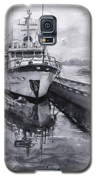 Seattle Galaxy S5 Case - Boat On Waterfront Marina Kirkland Washington by Olga Shvartsur