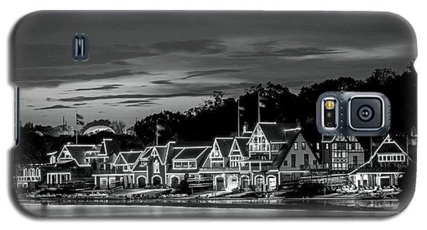 Boathouse Row Philadelphia Pa Night Black And White Galaxy S5 Case