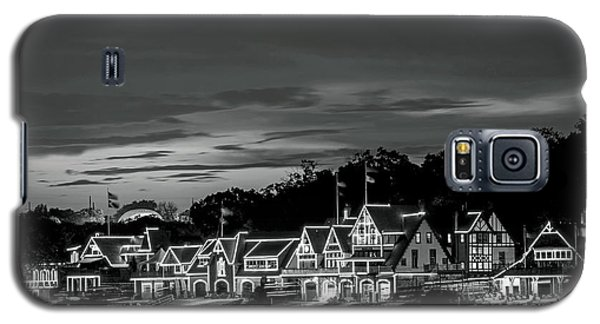 Boathouse Row Philadelphia Pa Night Black And White Galaxy S5 Case