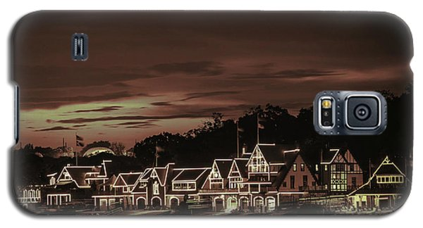 Boathouse Row Philadelphia Pa Night Retro Galaxy S5 Case