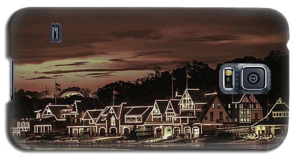 Boathouse Row Philadelphia Pa Night Retro Galaxy S5 Case