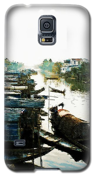 Boathouses In Vietnam Galaxy S5 Case
