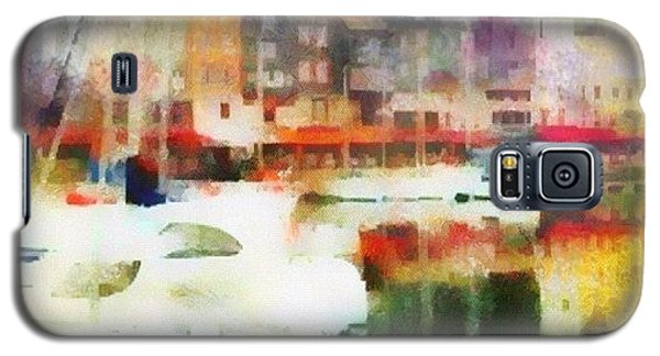 Boating In Honfleur Galaxy S5 Case by Susan Libby