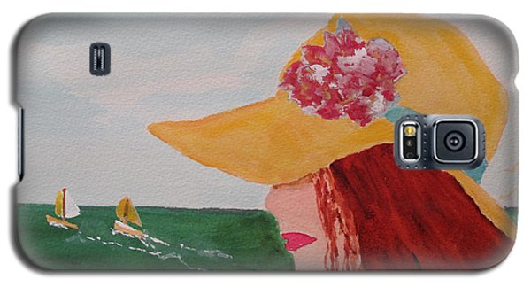 Galaxy S5 Case featuring the painting Boating by Sandy McIntire