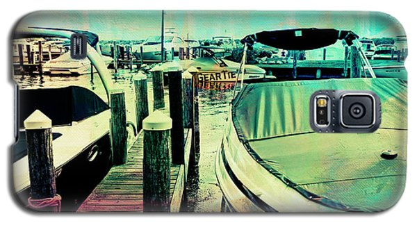 Galaxy S5 Case featuring the photograph Boats And Dock by Susan Stone