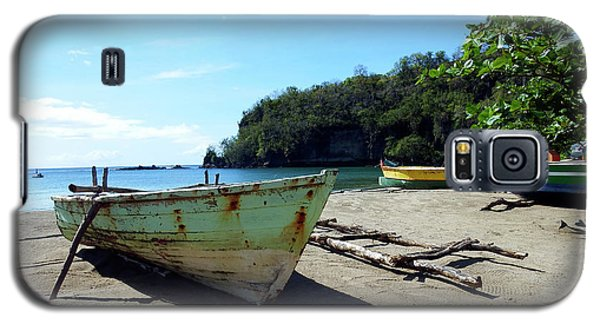 Galaxy S5 Case featuring the photograph Boats At La Soufriere, St. Lucia by Kurt Van Wagner