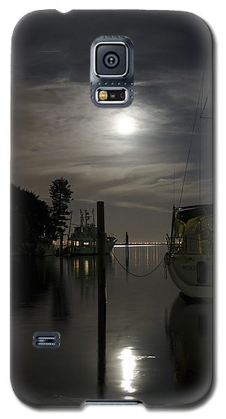 Boats At Moon Rise Galaxy S5 Case
