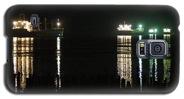 Boats At Night Galaxy S5 Case by Angi Parks