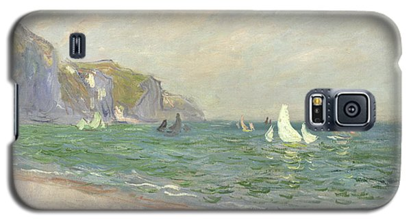 Boat Galaxy S5 Case - Boats Below The Cliffs At Pourville by Claude Monet