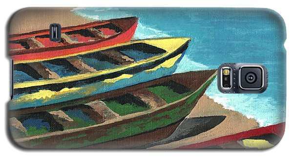 Boats In A Row Galaxy S5 Case by Kathleen Sartoris