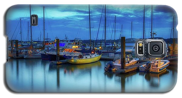 Boats In The Bay Galaxy S5 Case