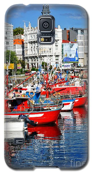 Boats In The Harbor - La Coruna Galaxy S5 Case