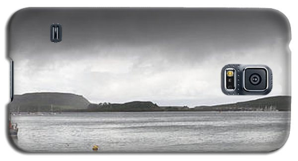 Boats Moored In The Harbor Oban Galaxy S5 Case