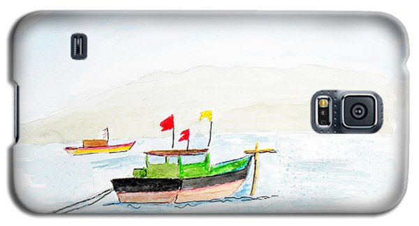 Boats Near Khashid Beach Galaxy S5 Case