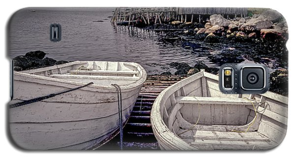Boats Near Peggys Cove Galaxy S5 Case