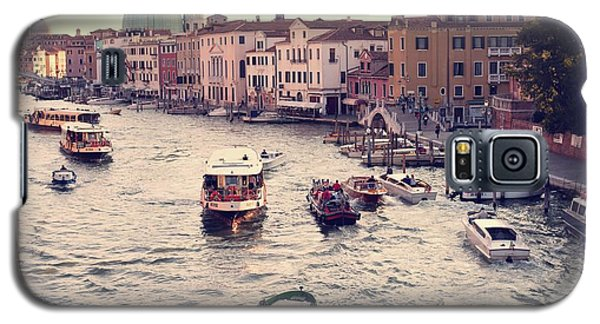 Galaxy S5 Case featuring the photograph Boats Of Venice by Brad Scott