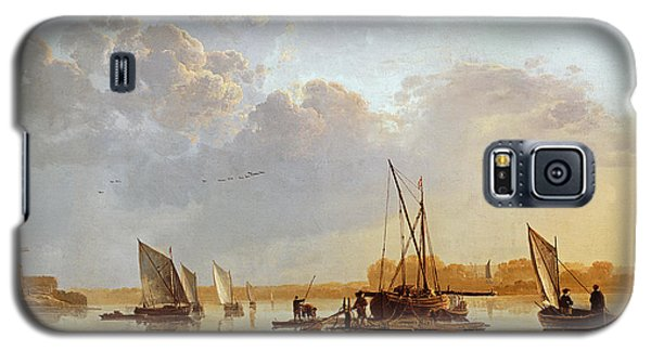 Boat Galaxy S5 Case - Boats On A River by Aelbert Cuyp