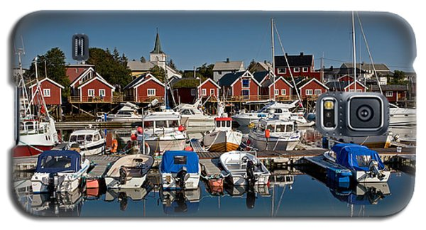 Boats With Reflections In Reine Port Galaxy S5 Case
