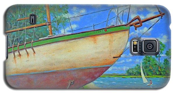 Boatyard On Shem Creek Galaxy S5 Case by Dwain Ray