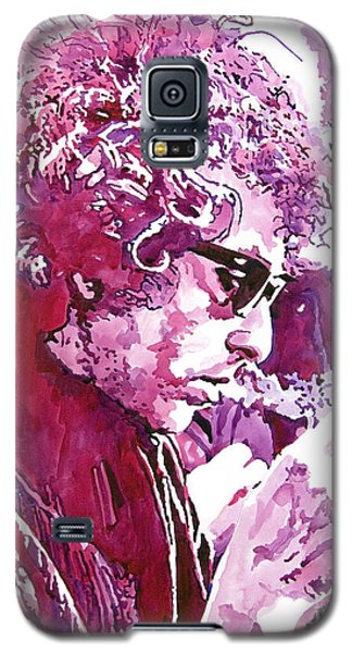 Galaxy S5 Case featuring the painting Bob Dylan by David Lloyd Glover