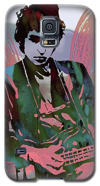 Bob Dylan Modern Etching Art Poster Galaxy S5 Case by Kim Wang