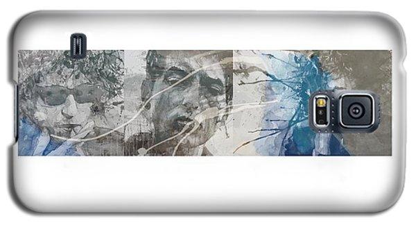 Bob Dylan Galaxy S5 Case - Bob Dylan Triptych by Paul Lovering