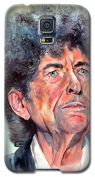 Bob Dylan Galaxy S5 Case - Bob Dylan Watercolor Portrait  by Suzann's Art