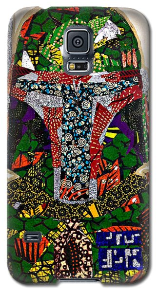 Galaxy S5 Case featuring the tapestry - textile Boba Fett Star Wars Afrofuturist Collection by Apanaki Temitayo M