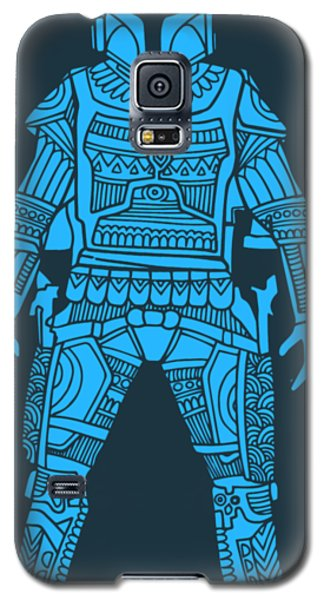 Star Wars Galaxy S5 Case - Boba Fett - Star Wars Art, Blue by Studio Grafiikka